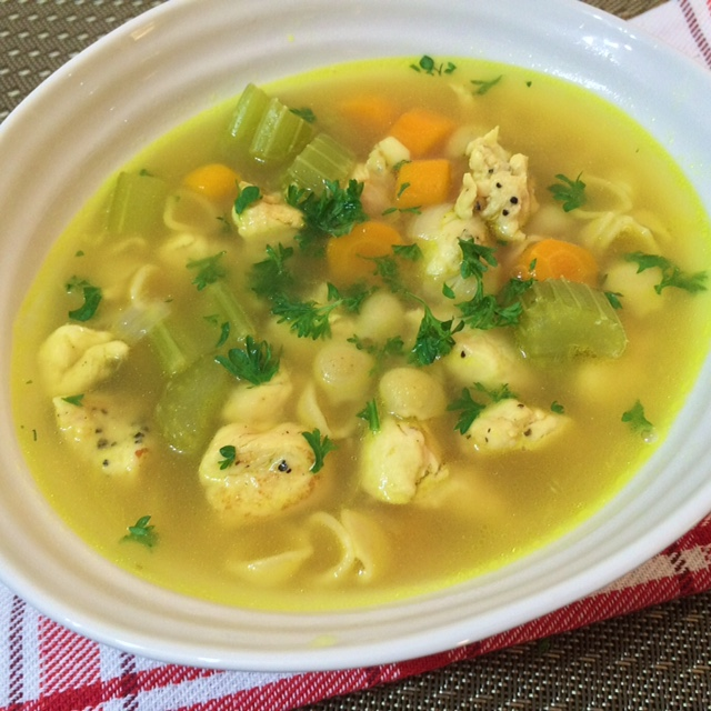 lisa eats chicken noodle soup 7