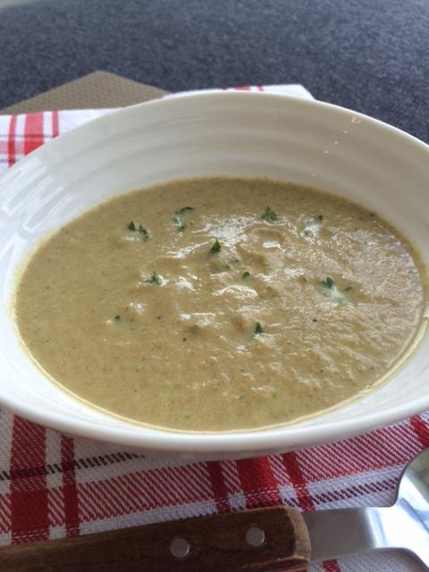 lisa eats mushroom soup 2