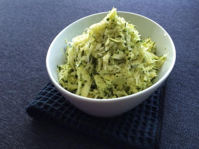 lisa eats zucchini fritters 4