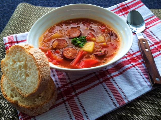 lisa eats spanish chorizo stew