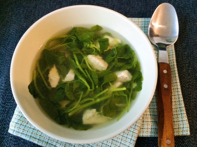 lisa eats watercress soup