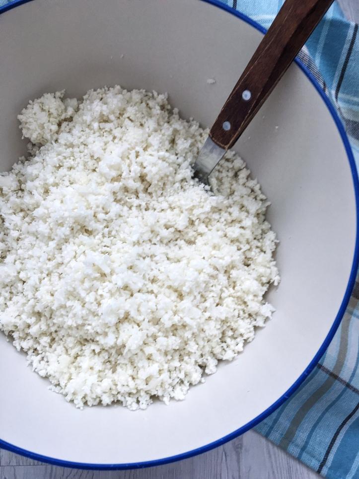 lisa eats cauliflower rice 7